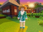 Wandering Trader in Holiday Pajamas: Christmas Skins in Realmcraft Free Minecraft Clone