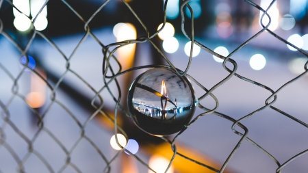 Ball Glass Fence - architecture, fence, glass, ball, bridge