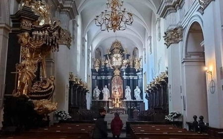 Church in Krakow, Poland - Poland, interior, altar, church