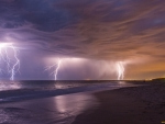 Lightnings over Sea