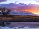 Sunset over Utah Lake