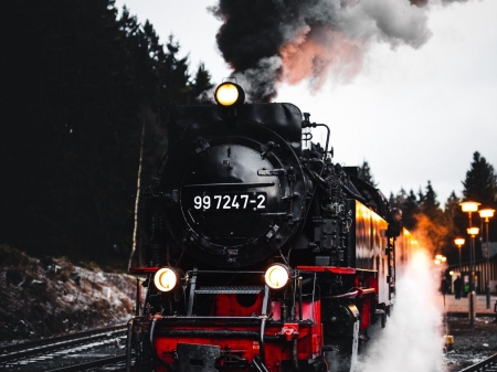 steam train - locomotive, steam, engine, train