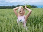 Prettty Girl in a Field of Wheat