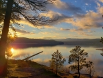 Beautiful Sunset Over Lake Coeur d'Alene in North Idaho