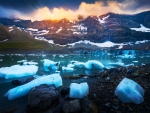 Glacier lagoon in Switzerland