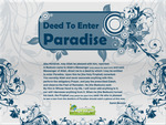 Deed to enter Paradise