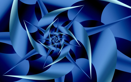 Out of the Blue - fractals, blue, curves, abstract, shapes, spiral