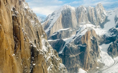 Mountain Summit - snow, summit, winter, peaceful, top of the mountain, peak, nature, mountain