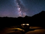 Car Starry Sky Milky Way
