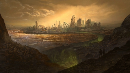 Last City of Man - apocalyptic, armaggedon, city, man, the end
