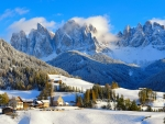 The village of Santa Maddalena, Italy