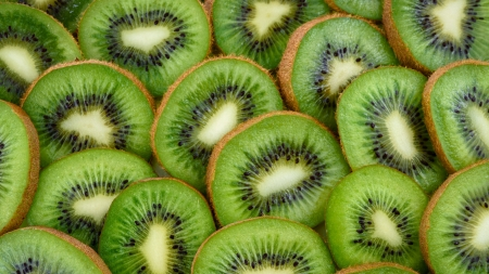 Kiwi - fruit, vara, green, kiwi, texture, summer, slice, skin