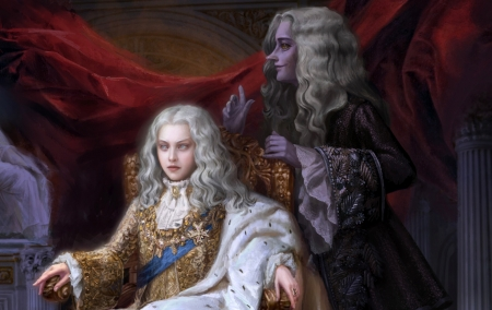 The young king - king, anastasia kaluzhnaya, art, fantasy, boy, young, throne