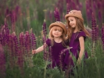 Sisters in Lupin Meadow