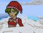 Cute Pixel Girl with Green Hair in RealmCraft Free Minecraft Style Game