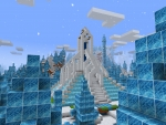 minecraft build Elsa's Frozen Ice Palace in Realmcraft Free Minecraft Clone