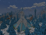 Dark Winter Vibes, Scary Ice Palace in Realmcraft Free Minecraft Clone