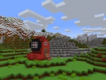 Little House as Red from Among Us Inspired in RealmCraft Free Minecraft Style Game