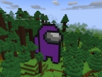 The Purple Impostor in Forest in RealmCraft Free Minecraft Style Game
