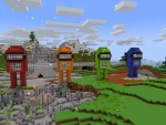 Pixel Red Impostor & His Friends Blueprint in Realmcraft Free Minecraft Clone