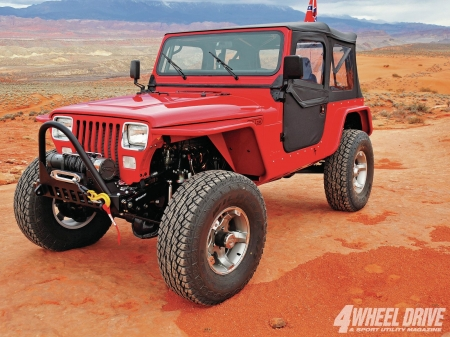 Jeep Wrangler YJ 1992 - thrill, 4x4, offroad, ride