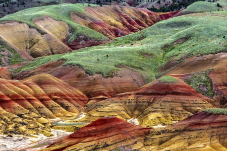 The Painted Hills of Oregon - colorful, oregon, hills, nature