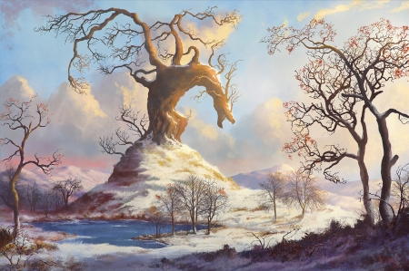 Dragon tree - fantasy, dragon, ben j, tree, luminos, benj