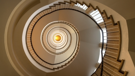 Spiral Stairs - stairs, arctitecture, up-down, spiral