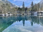 Crystal clear lake in the valley - Allgaeu Bavaria