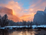 Sunrise at Yosemite Valley View