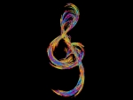 Colorful Treble Clef