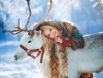 Girl and Reindeer