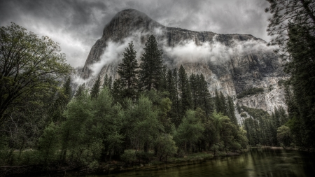 Yosemite Clearing Storm - windows, Yosemite, desktop, wallpaper