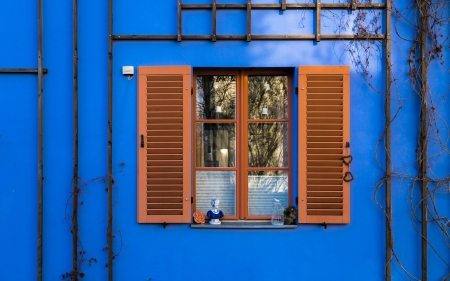 Window with Shutters - glass, house, Germany, window, Berlin