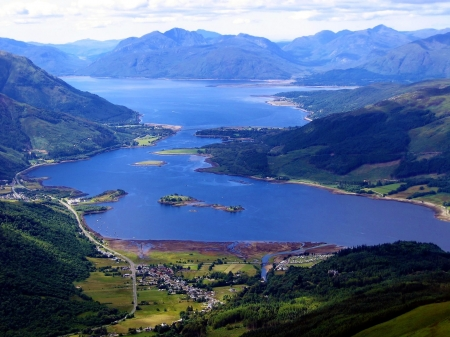 Loch Leven & Ballachulish Bridge from above Glencoe Village. - Loch Leven, Scotland, Glencoe, Ballachulish Bridge, Scottish Highlands