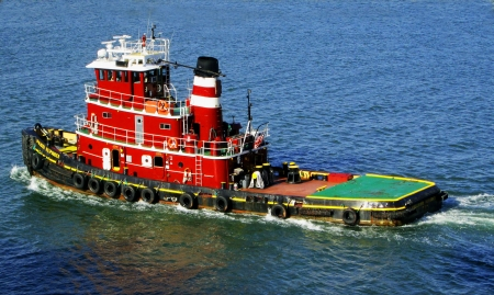 tugboat - boat, water, tugboat, ocean