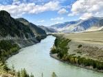 River Katun in Russia