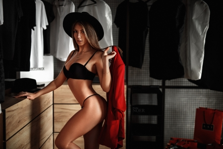Model - Model, girl, hat, women
