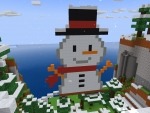 Adorbs Snowman in Cute Scarf is Waiting for U in RealmCraft Free Minecraft StyleGame