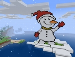 Pixelated Snowman Greets You in ✨RealmCraft✨Free Minecraft Clone Update