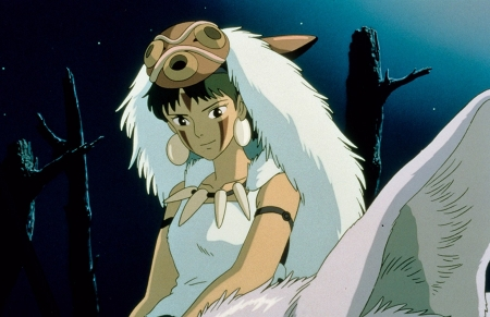 princess mononoke - mask, girl, princess, mononoke