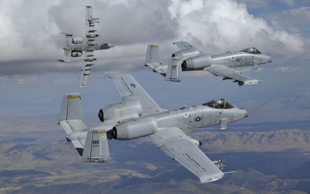 Fairchild Republic A-10 Thunderbold II - military, Thunderbolt II, Fairchild Republic, A-10, aircraft
