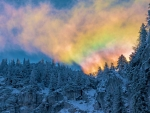 Rainbowcloud over the Bavarian Alps