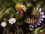 bee an a venus trap