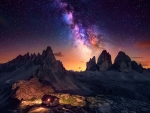 Milky Way over the Dolomites, Italy