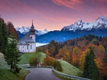 Church Maria Gern in Bavarian Alps