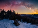 Milky Way Pano spanning the Adirondack Mountains in NY