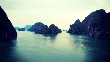 Ha Long Bay, Vietnam - rocks, water, sky, sea