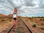 Walking on the Rails ~ Anjelica
