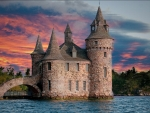 Sunset on Boldt Castle